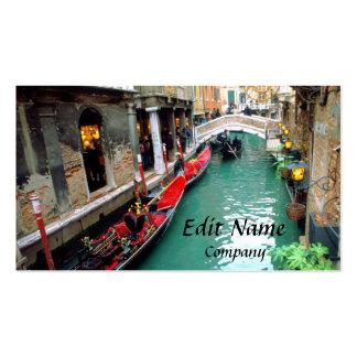 Góndolas en un canal veneciano tarjetas de visita
