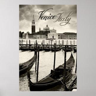 góndolas en Venecia Póster