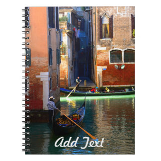 Gondolas Floating on a Peaceful Canal Notebook