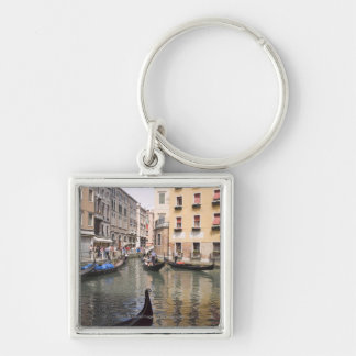 Gondolas in a canal, Venice, Italy Key Chains