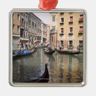 Gondolas in a canal, Venice, Italy Metal Ornament