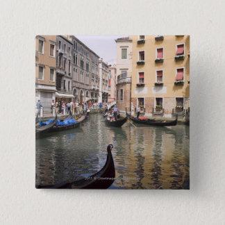 Gondolas in a canal, Venice, Italy Pinback Button