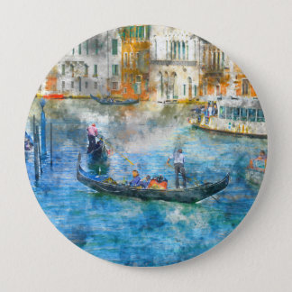 Gondolas in the Grand Canal of Venice Italy Pinback Button