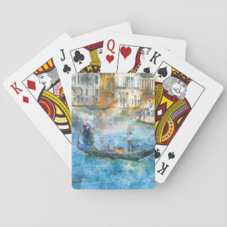 Gondolas in the Grand Canal of Venice Italy Playing Cards