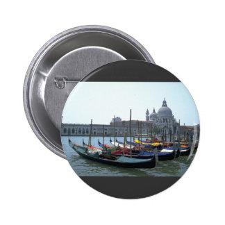 Gondolas in the Grand Canal, Venice, Italy Button