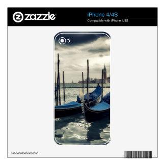 Gondolas in Venice iPhone 4S Skin