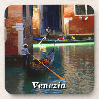 Gondolas in Venice, Italy Drink Coaster