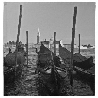 Gondolas in Venice Italy Napkin