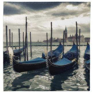 Gondolas in Venice Napkin