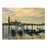 Gondolas in Venice Photo Print