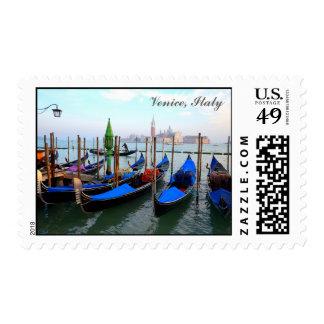 Gondolas in Venice Postage
