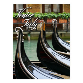 Gondolas in Venice Postcard