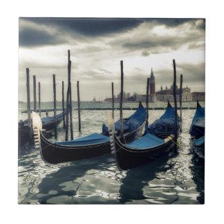 Gondolas in Venice Tile