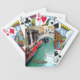 Gondolas on a Venetian canal Bicycle Playing Cards