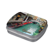 Gondolas on a Venetian canal Candy Tin