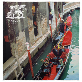 Gondolas on a Venetian canal Cloth Napkin