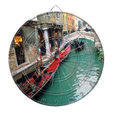 Gondolas on a Venetian canal Dartboards