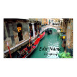Gondolas on a Venetian canal Double-Sided Standard Business Cards (Pack Of 100)