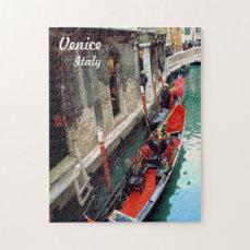 Gondolas on a Venetian canal Jigsaw Puzzle