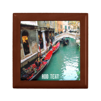 Gondolas on a Venetian canal Keepsake Box