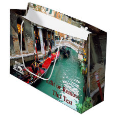 Gondolas on a Venetian canal Large Gift Bag