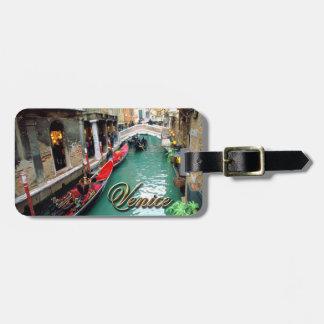 Gondolas on a Venetian canal Luggage Tag