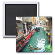 Gondolas on a Venetian canal Magnet