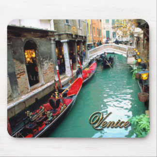 Gondolas on a Venetian canal Mouse Pad