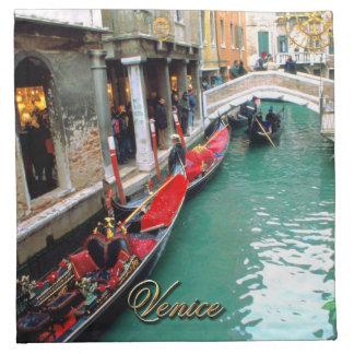 Gondolas on a Venetian canal Napkin