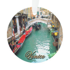 Gondolas on a Venetian canal Ornament