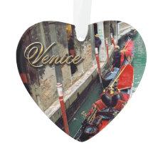Gondolas on a Venetian canal Ornament