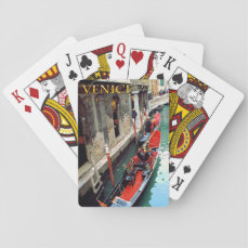 Gondolas on a Venetian canal Playing Cards