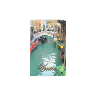 Gondolas on a Venetian canal Pocket Moleskine Notebook
