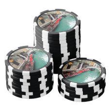 Gondolas on a Venetian canal Poker Chips