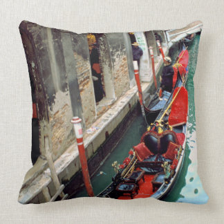 Gondolas on a Venetian canal Throw Pillow