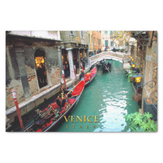 Gondolas on a Venetian canal Tissue Paper