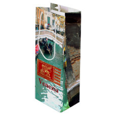 Gondolas on a Venetian canal Wine Gift Bag