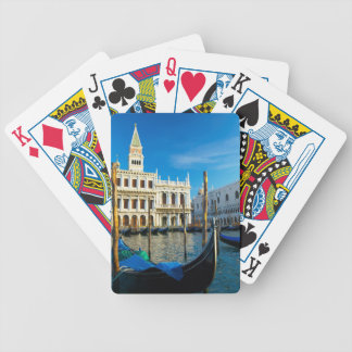 Gondolas On Grand Canal Near Doge's Palace Bicycle Playing Cards