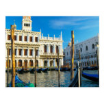 Gondolas On Grand Canal Near Doge's Palace Postcard