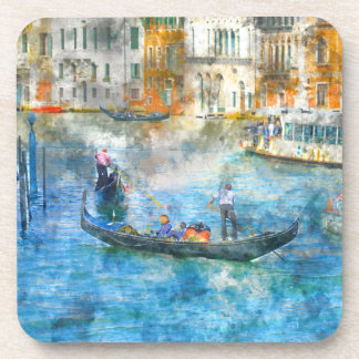 Gondolas on the Grand Canal in Venice Italy Drink Coaster