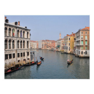 Gondolas on the Grand Canal of Venice, Italy Poster