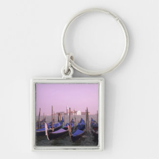 Gondolas ready for tourists in Venice Italy Keychain