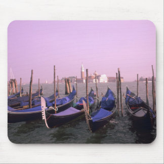 Gondolas ready for tourists in Venice Italy Mousepad