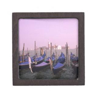 Gondolas ready for tourists in Venice Italy Premium Gift Box