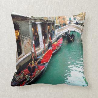 Gondolas- Venice, Italy Throw Pillow