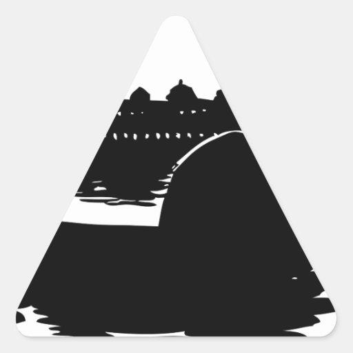 gondolero de Venecia Pegatina Triangulo Personalizadas