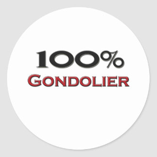 Gondolero del 100 por ciento pegatina redonda