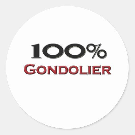 Gondolero del 100 por ciento etiqueta