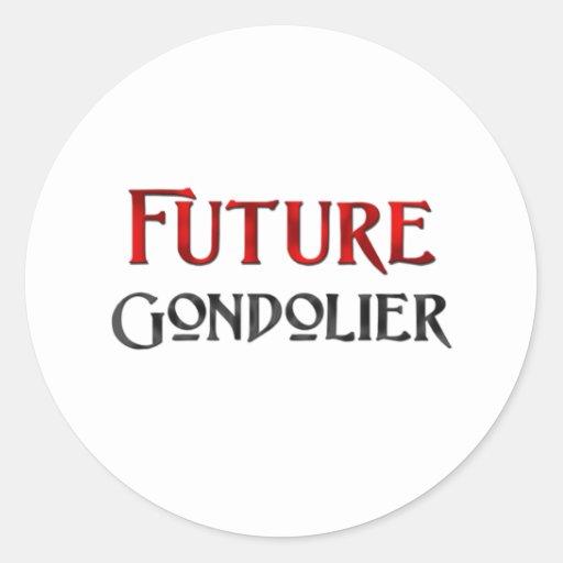 Gondolero futuro etiquetas redondas