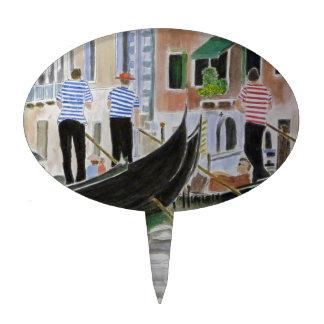 Gondoleros Italia Decoración Para Tarta